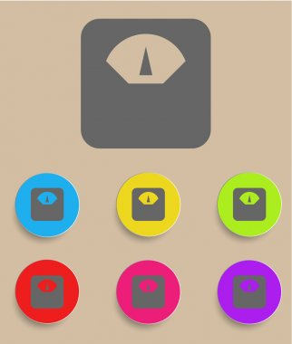Scale icon with color variations, vector