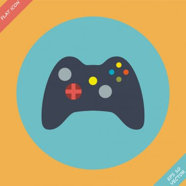 Computer Video Game Controller Joystick - vector illustration.