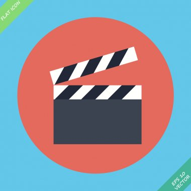 Film clap board cinema - vector illustration. Flat design