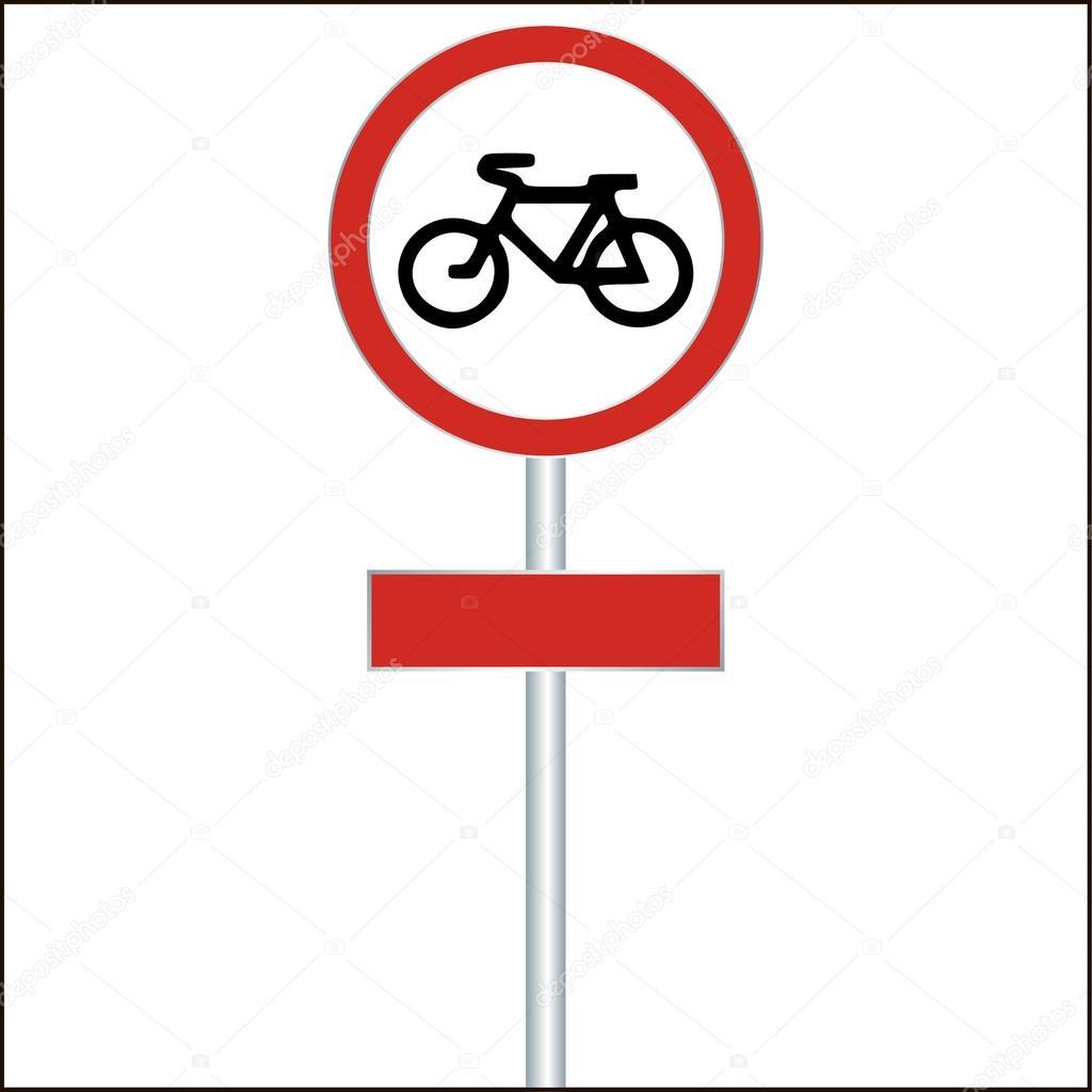 Bike track sign road sign - vector illustration