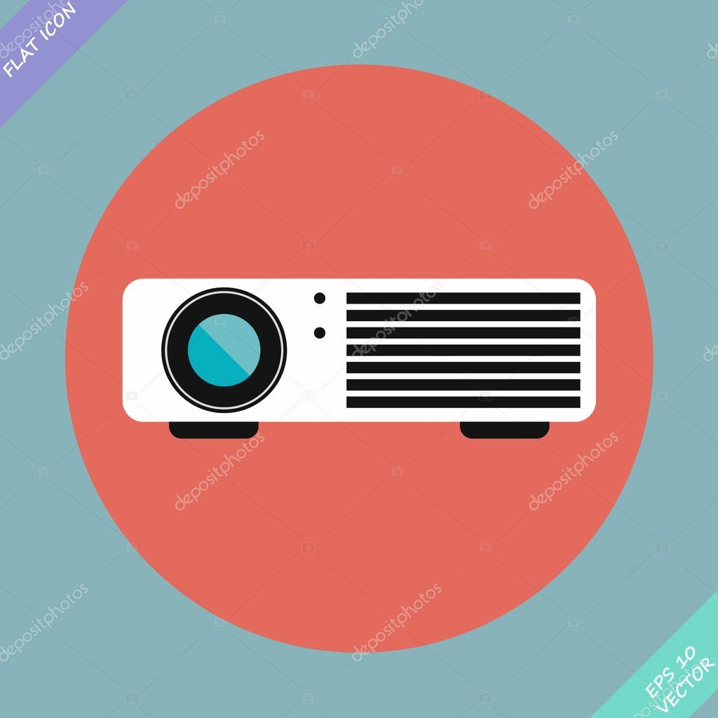 Cinema projector - vector illustration. Flat design element
