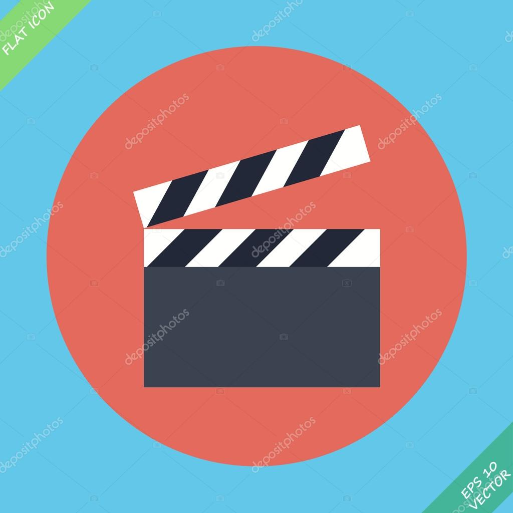 Film clap board cinema - vector illustration. Flat design