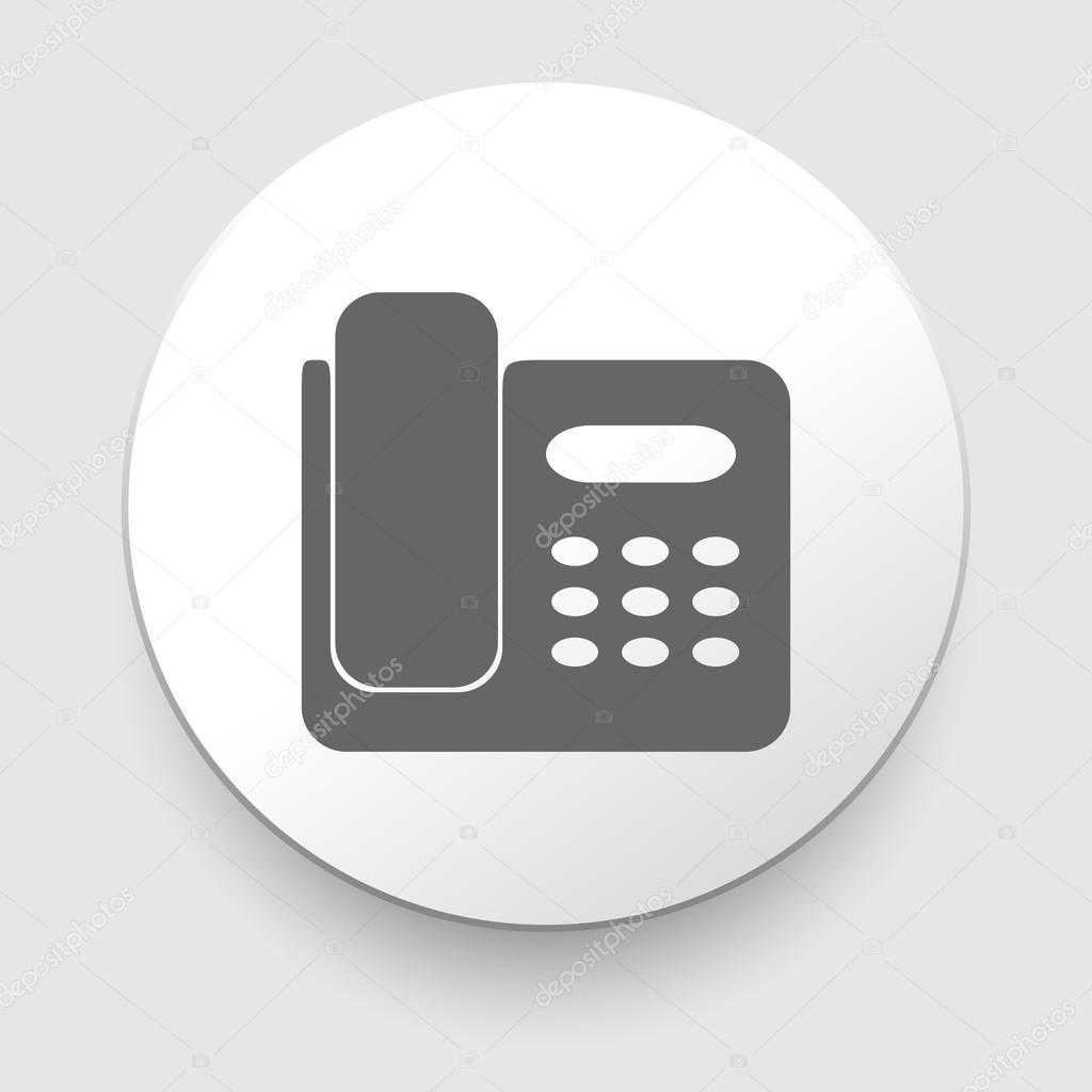 Icono de tel fono de la oficina ilustraci n vectorial for Telefono de oficinas