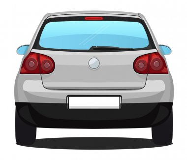 Vector Car - back view - Silver