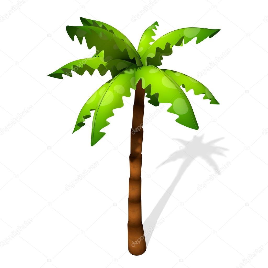 Illustration de palmier de dessin anim photographie - Palmier dessin ...