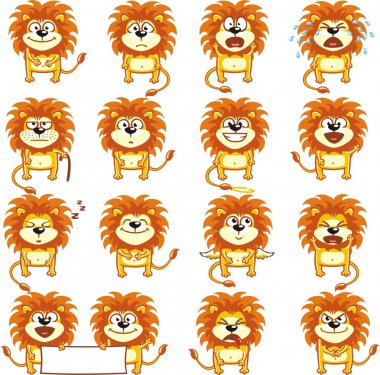 Smiley lions