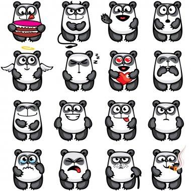 Smiley pandas