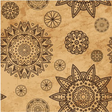 Vintage vector pattern. Hand drawn abstract background. Decorative retro banner. Can be used for banner, invitation, wedding card and others. Royal vector design element.