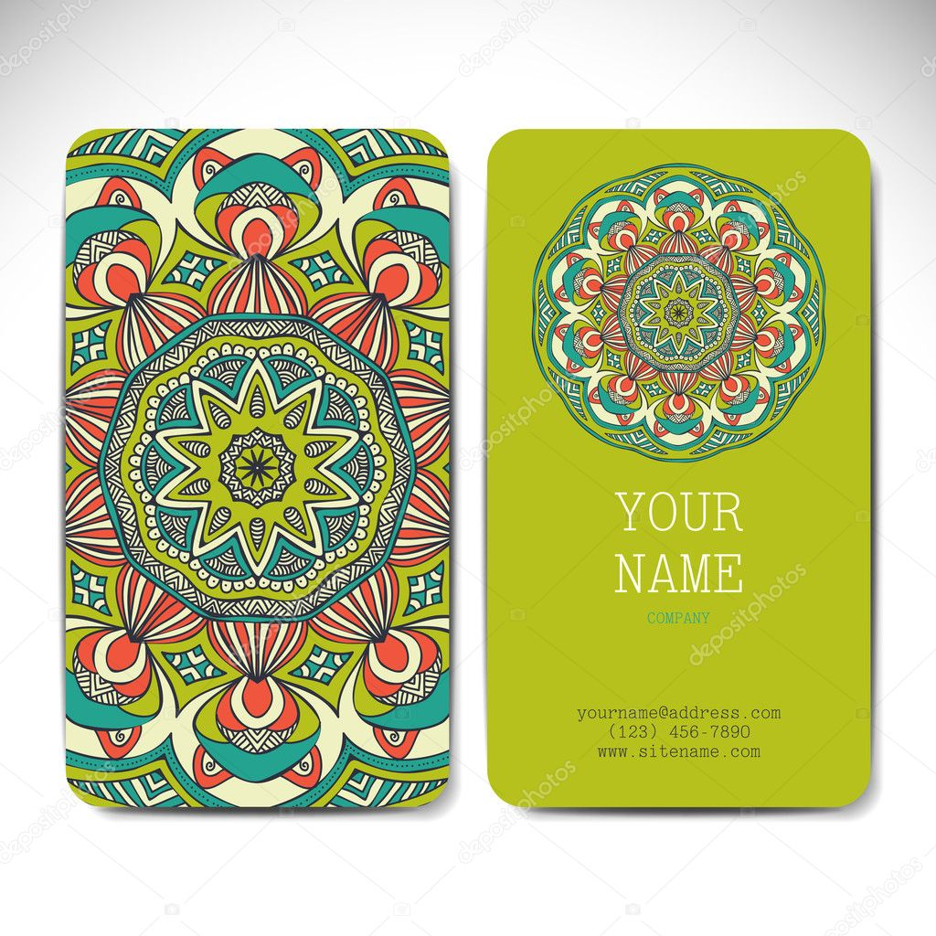 Set retro business card vector background card or invitation set retro business card vector background card or invitation vintage decorative elements colourmoves Gallery