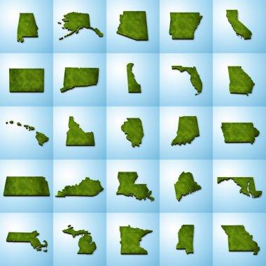 US State Maps Set I