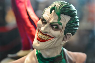 The Joker figure model.