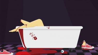 Bloody bathtub