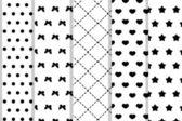 Fotografie 5  different vector seamless patterns (tiling)