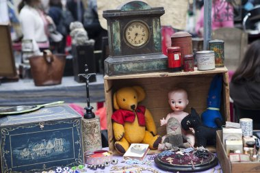 Props for sale on street market stall