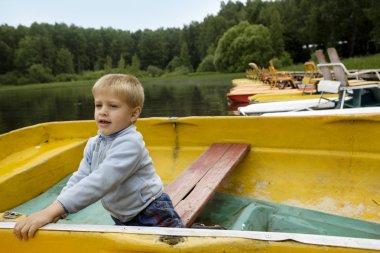 Boy in boat