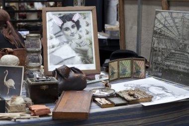 Collection of Items in antique shop