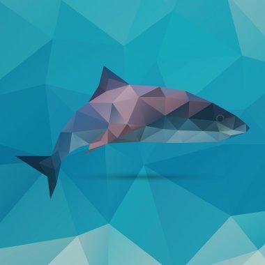 Geometric polygonal shark