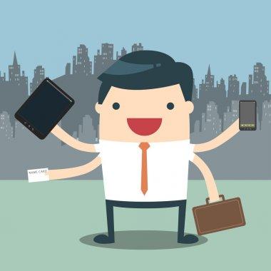 Businessman hard work