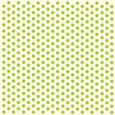 Green polka dots paper