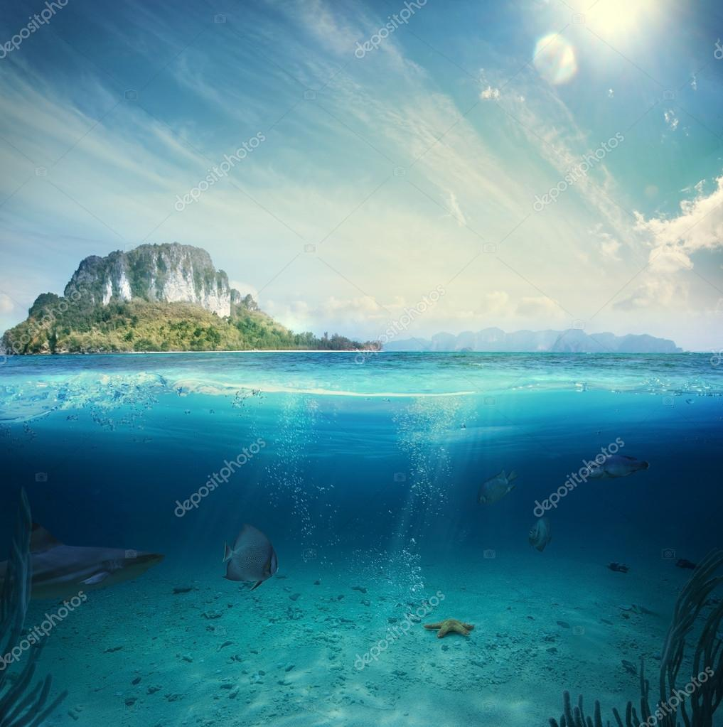 Ocean and underwater part
