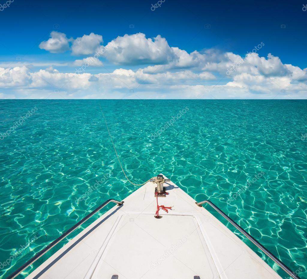 Yacht boat stern