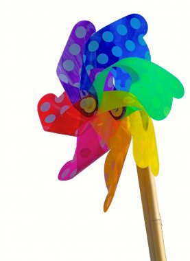 Colorful toy weathervane - Isolated