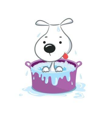 Funny puppy vector illustration