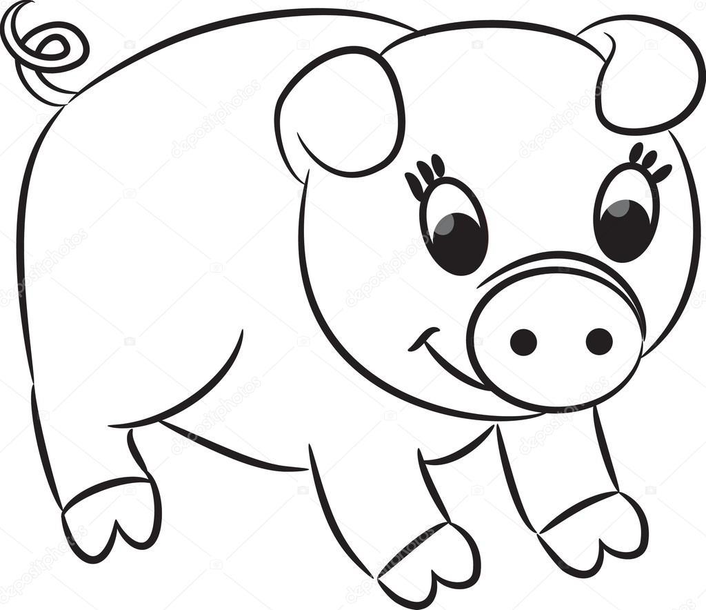 cerdo de la historieta — Archivo Imágenes Vectoriales © ARNICA83 ...