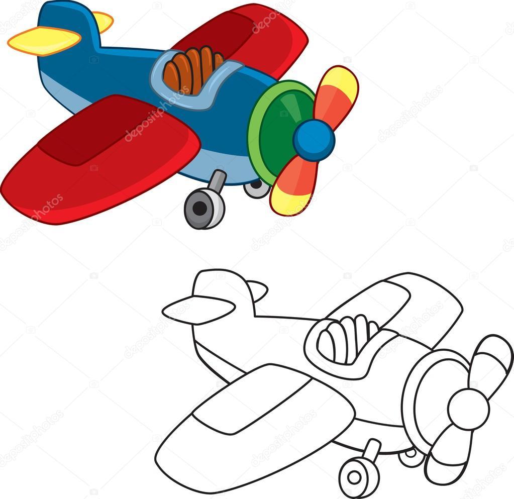 avión de juguete. libro para colorear — Vector de stock © ARNICA83 ...