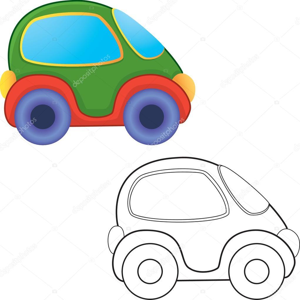 coche de juguete de Vector — Archivo Imágenes Vectoriales © ARNICA83 ...
