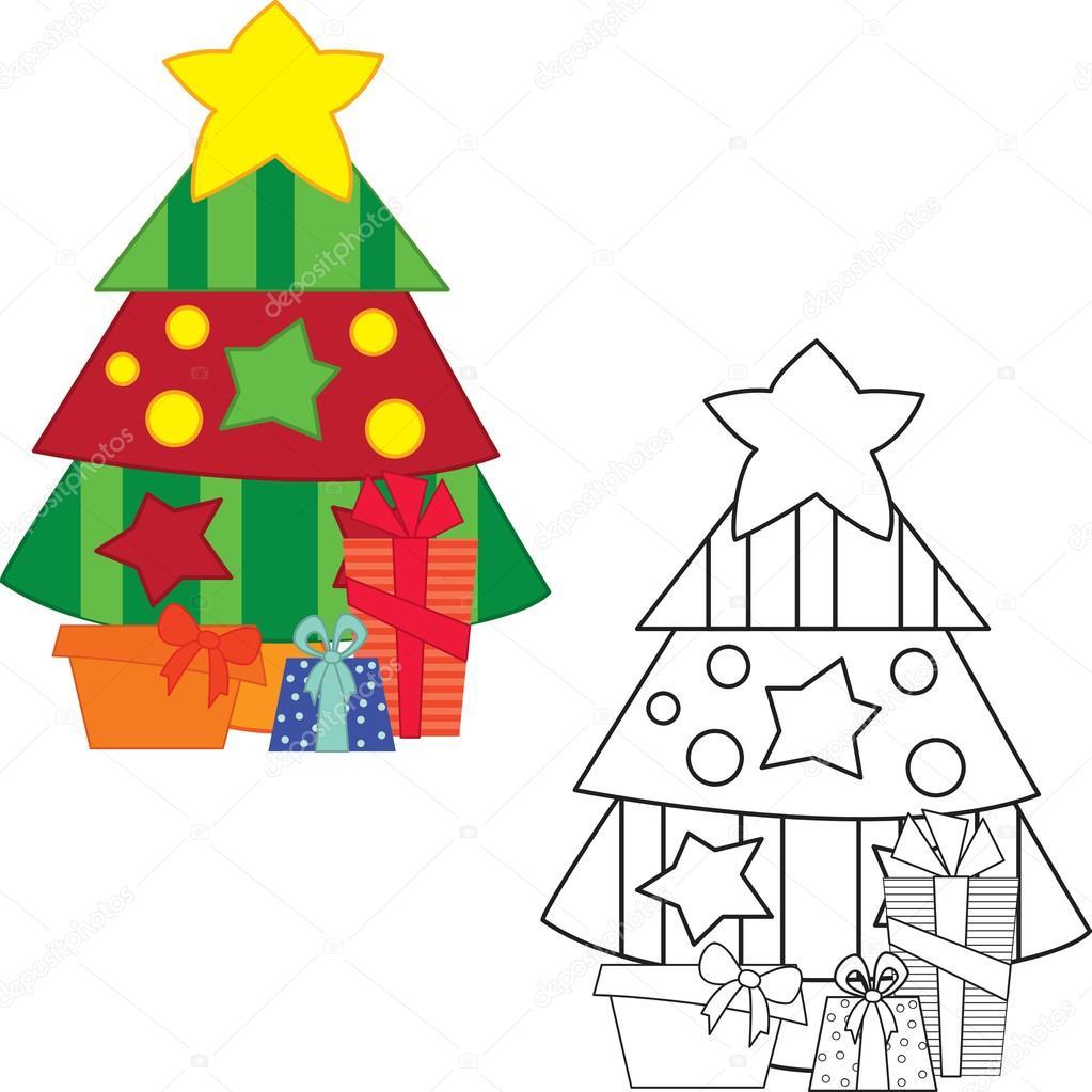 Hediyeler Ile Noel Ağacı Stok Vektör Arnica83 44836899
