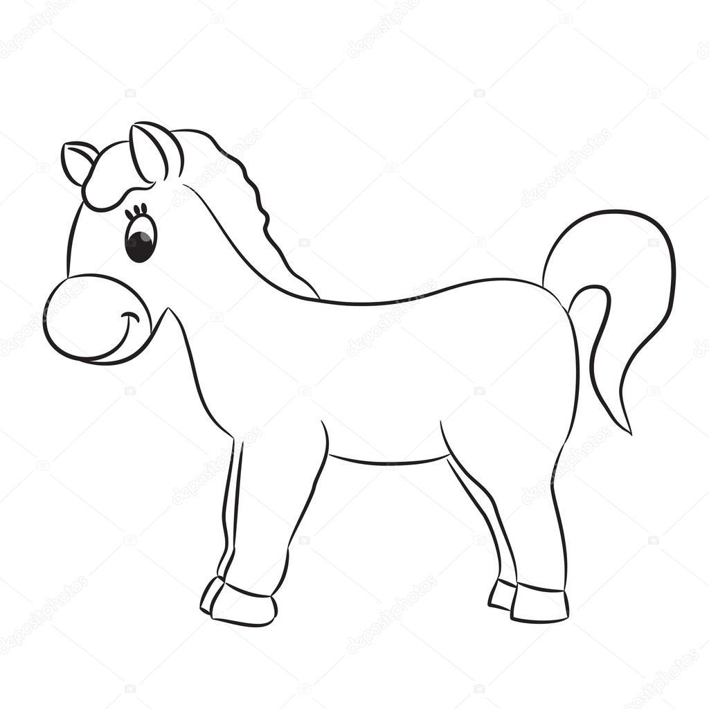 caballo de dibujos animados — Vector de stock © ARNICA83 #44929665