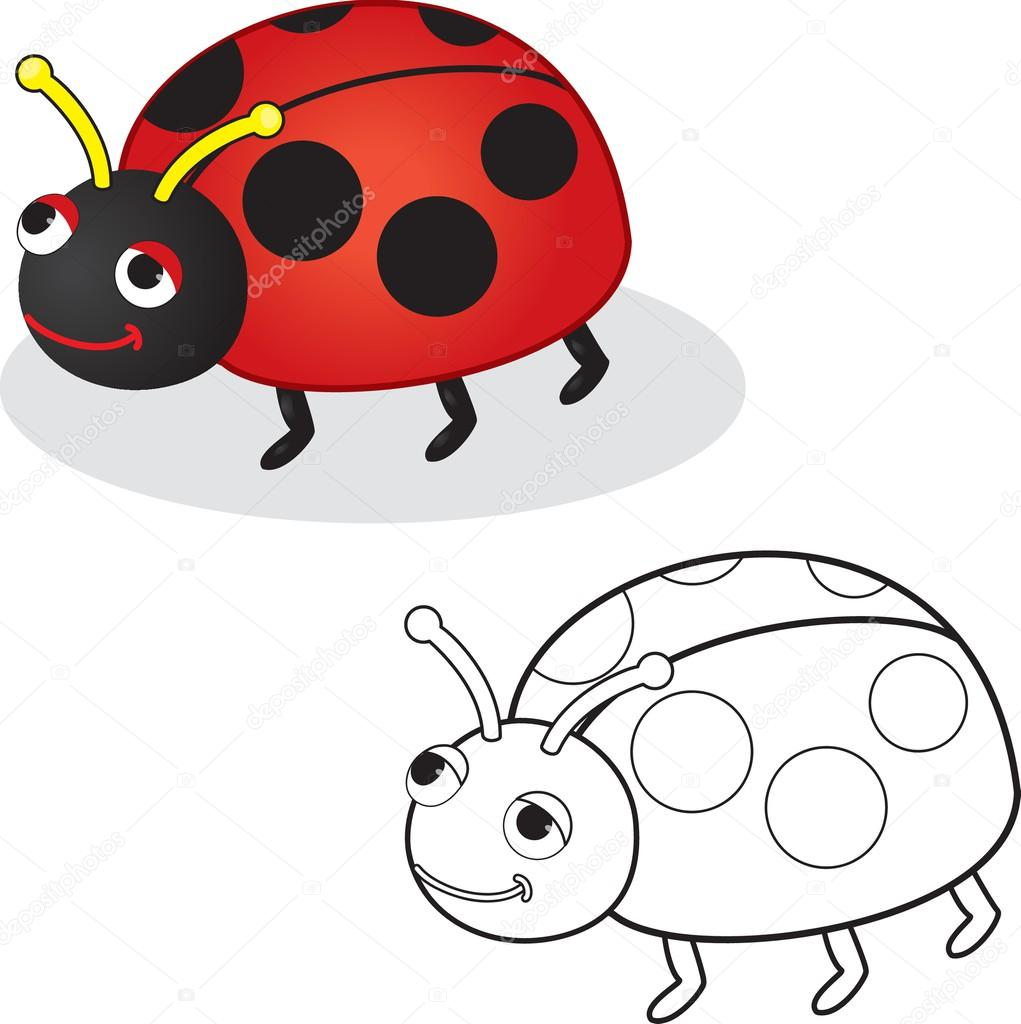 Boyama Kitabı Uğur Böceği Oyuncak Stok Vektör Arnica83 44934029