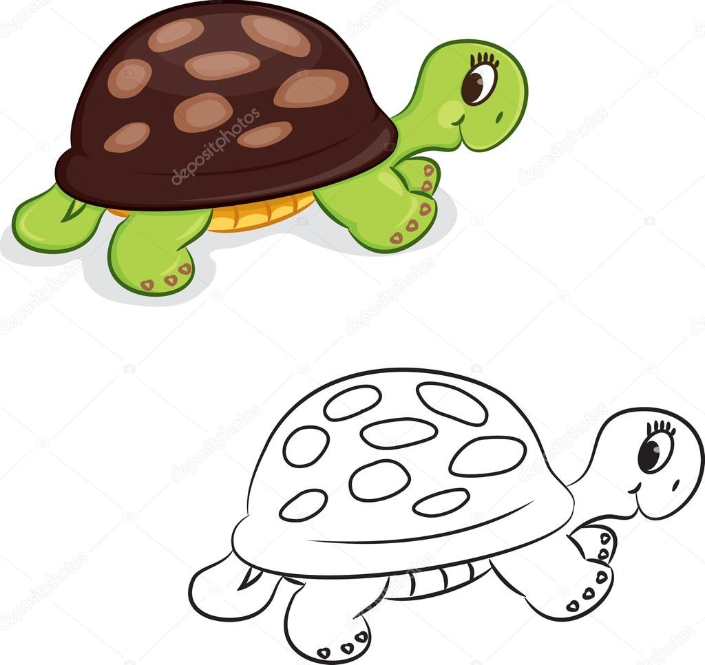 Cartoon-Schildkröte — Stockvektor © ARNICA83 #44939421