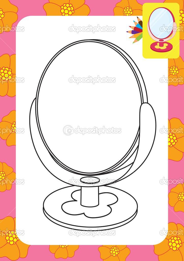 Ayna Oyuncak Boyama Sayfası Stok Vektör Arnica83 45281209