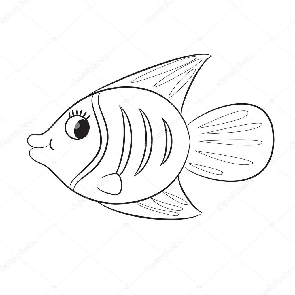 Fotos Pescados Para Dibujar Dibujos Animados De Pescado Página