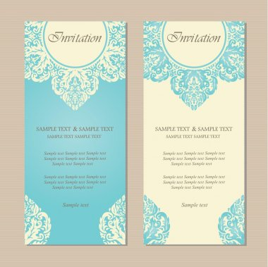 Floral vintage business or invitation card