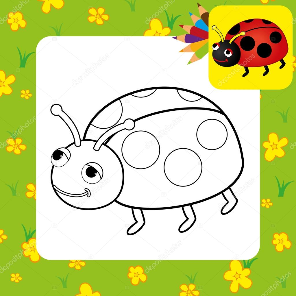 Kleurplaat Lieveheersbeestje Stockvector C Arnica83 46808795