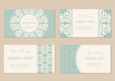 Floral business or invitation cards