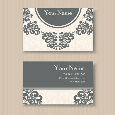 Stylish vintage business card template