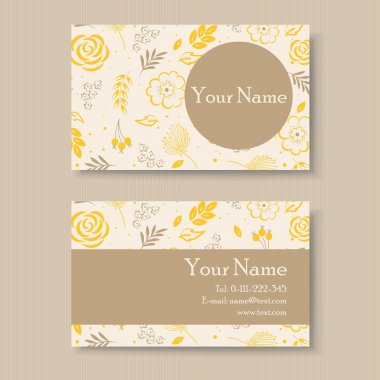 Floral business or visiting card
