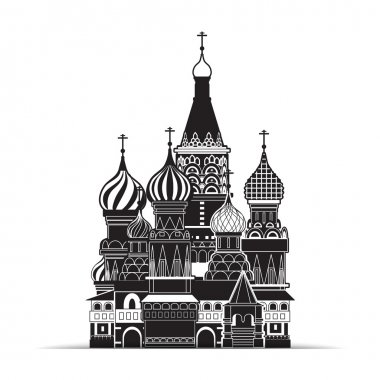 Saint Basil cathedral , Moscow, vector symbol