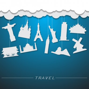 Travel landmark background