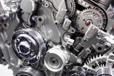 Close-up automobile engine