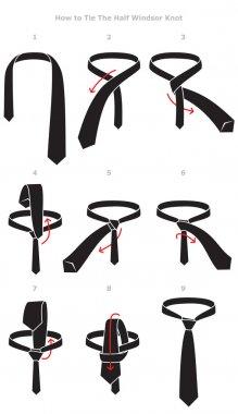 Half Windsor knot tying instructions