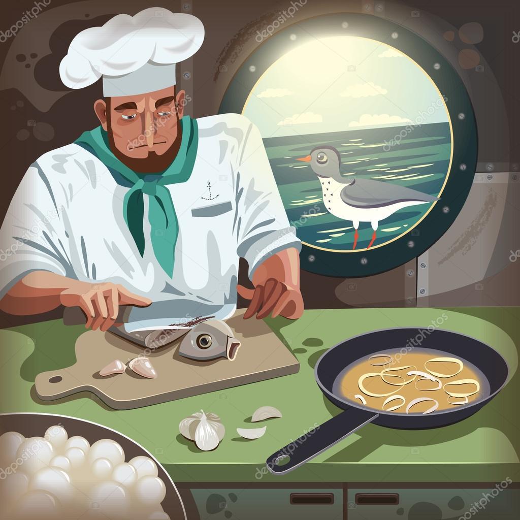 Картинки поваров на корабле