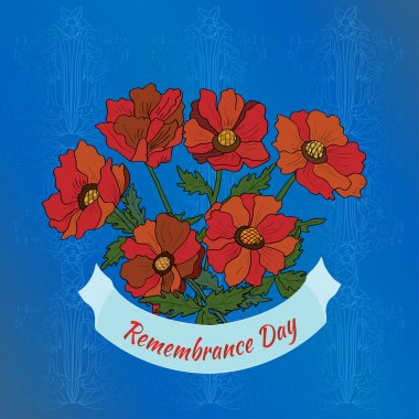 Remembrance Day.  Greeting Card.