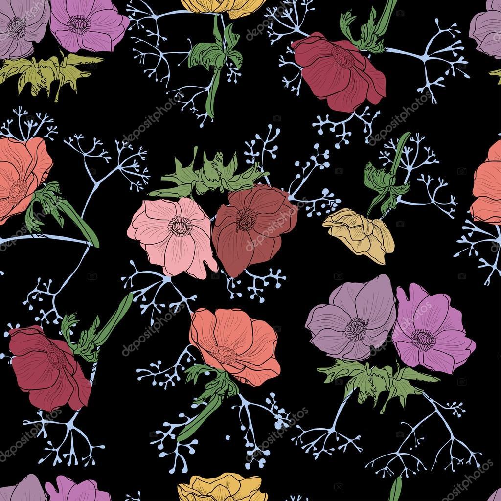Seamless floral design.