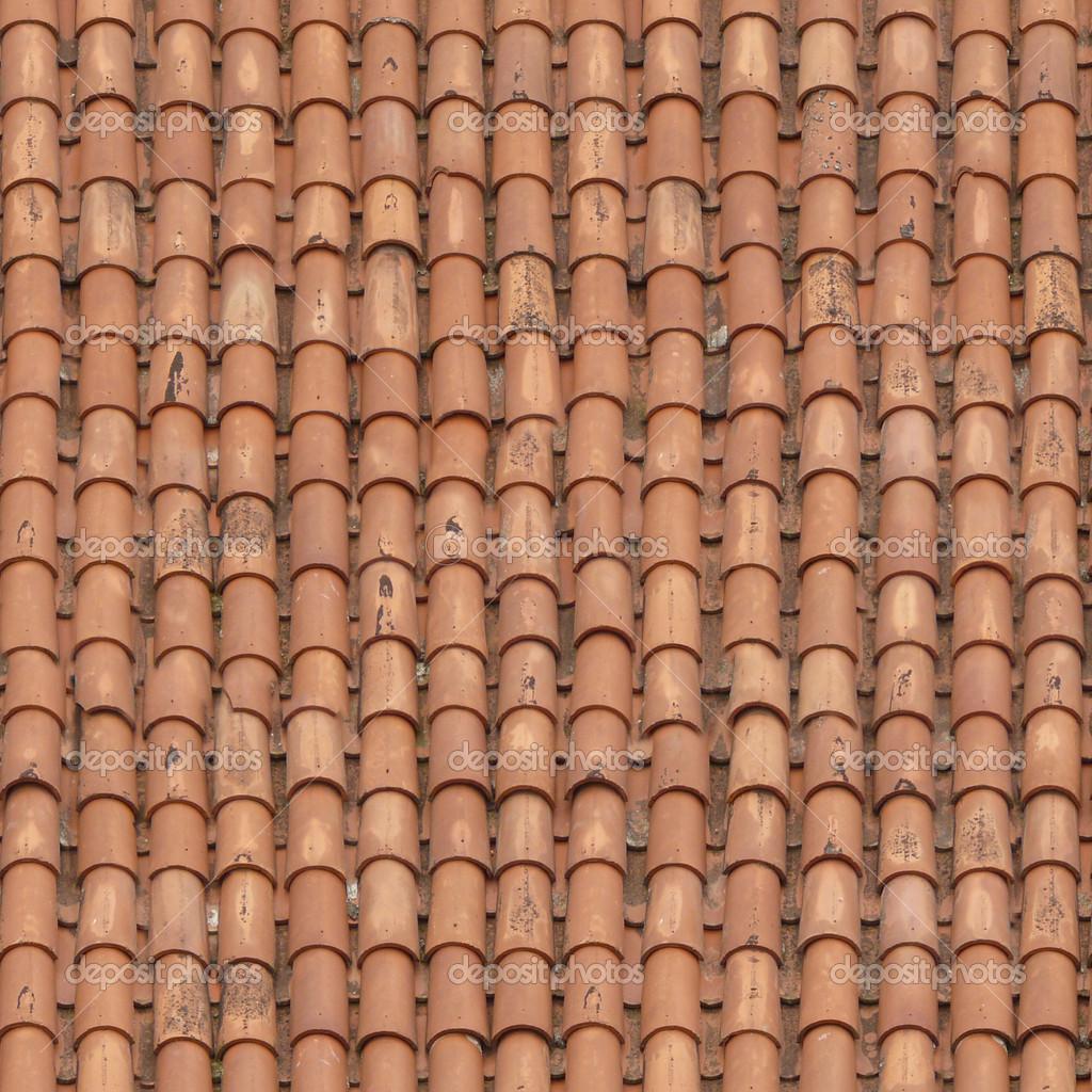 Dach textur  Textur der roten Schindeln mit gebogene Form — Stockfoto #44065785