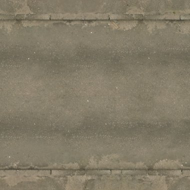 Old, seamless texture of asphalt road in grey tone with very worn surface.